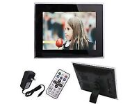 """Large 10"""" screen digital photo frame, with 2gb memory"""