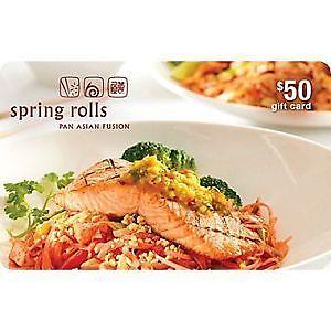 Spring Roll Restaurant Gift Card $50
