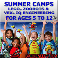 Summer Camp: Robots, LEGO ZooBots! Early Bird Discount May 31.