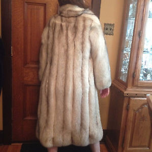 FULL LENGTH BLUE FOX COAT