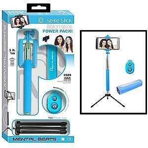 MENTAL BEATS 4IN1 SELFIE STICK/TRIPOD/BLUETOOTH SHUT/2600MAH