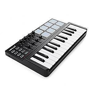 MIDI keyboard with about 25 keys & at least 8 drum pads
