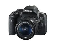 CANON EOS 750D DSLR CAMERA - IMMACULATE - EXTRAS