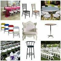 Best quality event furniture Rental Chairs, Tables, Linen,