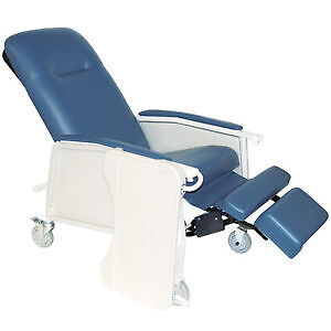 3 Position Recliner Geri Chair, in Blue color