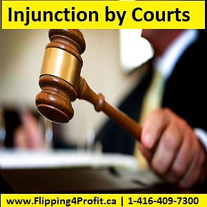 Power of sale,Ontario Injunction by courts: