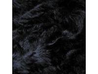 3.5 Meters Of Luxury Soft Long Black Fur Fabric Material