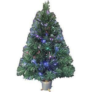 pre lit fiber optic christmas tree - Christmas Trees At Michaels