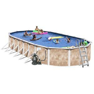Above Ground Swimming Pool Oval Ebay