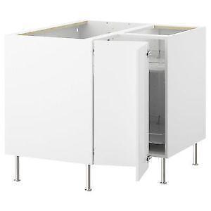 Kitchen units ebay for White gloss kitchen corner unit