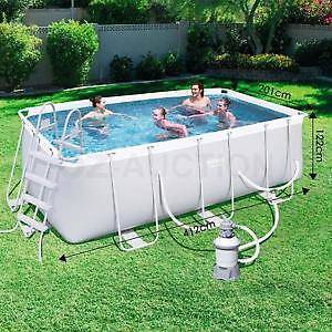 """Bestway Above Ground Steel Frame Swimming Pool 162""""x79""""x48"""" Brooklyn Park West Torrens Area Preview"""