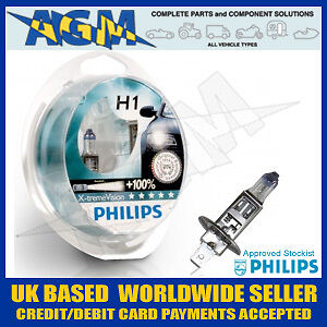 Philips X-treme Vision 100%+ Brighter Xenon Effect H1 Upgrade Kit (2 x H1 Bulbs)