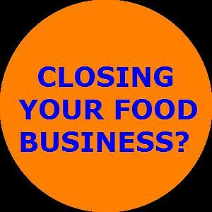 CLOSING YOUR FOOD BUSINESS?   WE LIQUIDATE!