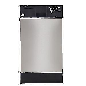 """GE Lave-vaisselle Stainless 18"""" encastr avec cuve en acier inoxydable"""