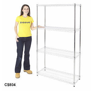 Chrome Wire Shelving Shelves display racking home kitchen bedroom NEW