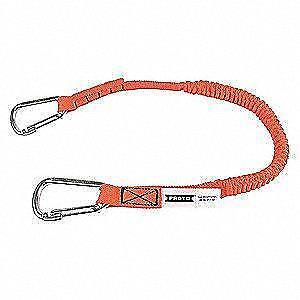 Stanley Proto JLAN25LBDSS Elastic Lanyard with 2 Stainless Steel Carabiners 25-pound  neuveee