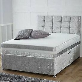 Brand new crushed velvet divan beds! available in all sizes