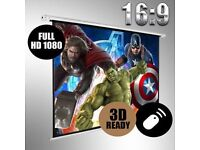 "120"" 16:9 HD/3D Electric Motorised Projector Screen + Remote Control"