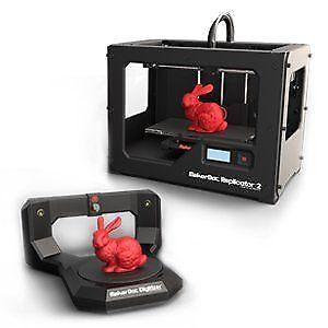 Makerbot Replicator 2 with Digitizer and Filament spools