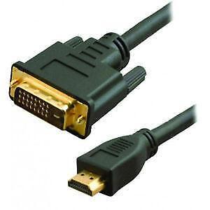 New Dynex 1.8m (6 ft.) Standard DVI to HDMI Cable (DX-AV011)