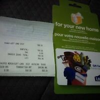 FREE 70$/WILL SELL A 500$ LOWES GIFT CARD NO EXPIRY FOR 430$