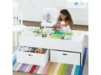 Kids Eden train table with storage.