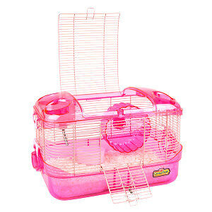 Pink Kaytee Critter Trail cage
