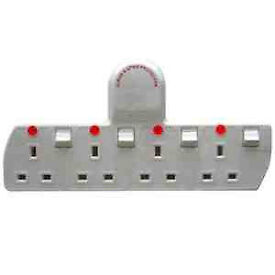 Cable free quality 4 way socket extension, converts one wall socket into four sockets,bargain at £5