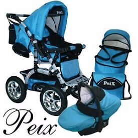 Baby carriages PEIX - 3in1, verry good condition, green perfect for girl or boy.
