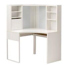 Ikea Micke Corner Desk Workstation White