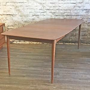 Mid Century Teak, Walnut and Rosewood Dining Tables