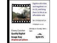 Digitize old slides and negatives on to CD