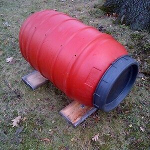 Big Plastic Rolling Composter