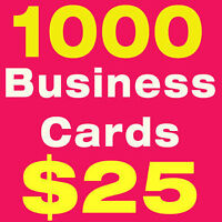 Print 1000 business cards $25, 16pt. UV / Matte Ottawa Montreal