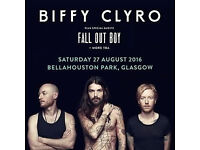 2x Biffy Clyro Summer Sessions in Bellahouston Park, Glasgow Tickets 27th August 2016 £90