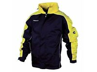 Job Lot BNWT Football Training Shower Jackets Black/Yellow 10 x 152 (11/12 yrs)