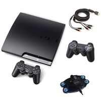 Slim PS3 + 7 games +2 controllers + charging station