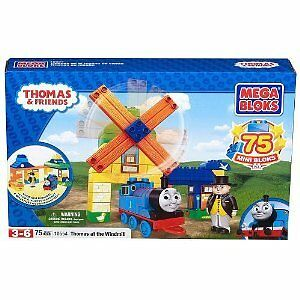 THOMAS & FRIENDS MEGA BLOKS THOMAS AT THE WINDMILL # 10554
