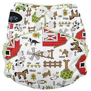 Imagine Bamboo All-in-One cloth diapers!