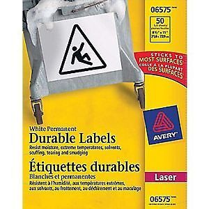 Avery White Permanent Durable ID Labels for Laser Printers 6575,