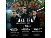 2 take that tickets block 7 Birmingham 4th June