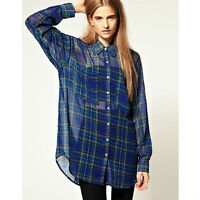 AMERICAN APPAREL CHIFFON BUTTON UPS