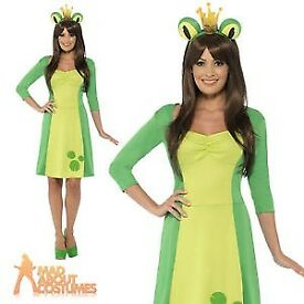 LADIES OR TEENS FROG PRINCESS SIZE XS FANCY DRESS OUTFIT PARTY OR HEN DO