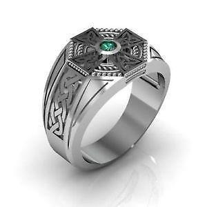 Mens Sterling Silver Cross Ring