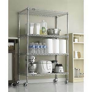 WIRE SHELVES & SHELVING-Chrome & Black Coated--AMAZING DEALS!!