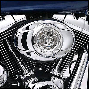 Harley-Willie-G-Skull-Chrome-Air-Cleaner-Cover-99-Up-FLH-FXST-FLST-FXD