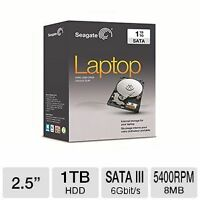 TWO NEW 1TB (1000GB) LAPTOP HARD DRIVES, SEAGATE