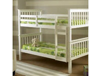 QUALITY WHITE WOODEN BUNK BED**NEW**£199**WOW