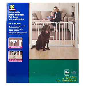 Brand New Top Paw Extra Wide Walk-Through Pet Gate,Free Delivery