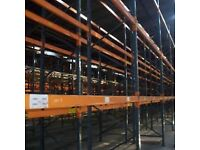 HEAVY DUTY PALLET RACKING 3 NO 3 METRE X 3 METRE BAYS WITH BEAMS AND UPRIGHTS AND SUPPORT BOARDS